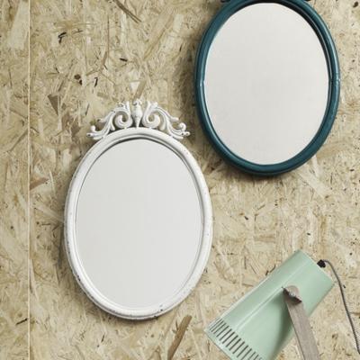 Baroque Metal Mirror - White image 4