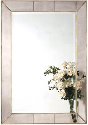 Venetian Wall Mirror Bevelled Pale Gold