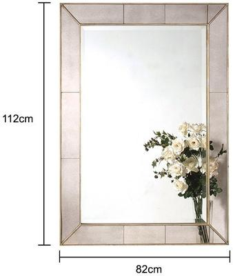 Venetian Wall Mirror Bevelled Pale Gold image 2
