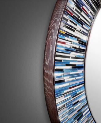 Roulette PIAGGI multicolour glass mosaic round mirror image 8
