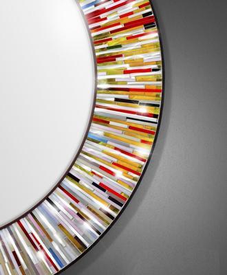 Roulette PIAGGI multicolour glass mosaic round mirror image 9