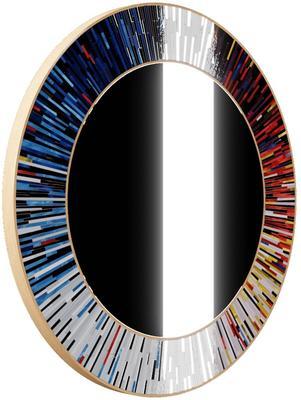 Roulette PIAGGI multicolour glass mosaic round mirror image 13