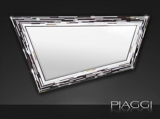 Rhombus black PIAGGI glass mosaic mirror