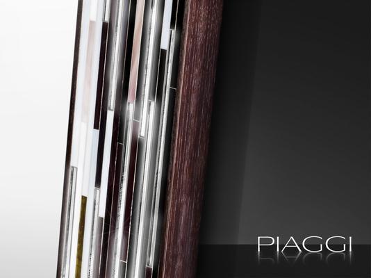 Rhombus black PIAGGI glass mosaic mirror image 2