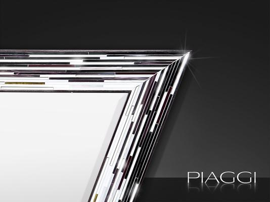 Rhombus black PIAGGI glass mosaic mirror image 3
