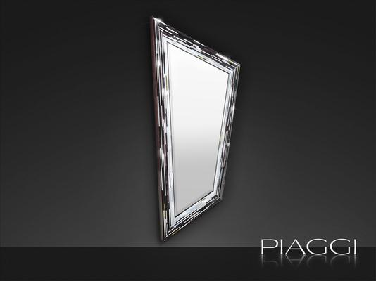 Rhombus black PIAGGI glass mosaic mirror image 5