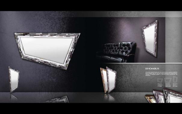 Rhombus black PIAGGI glass mosaic mirror image 6