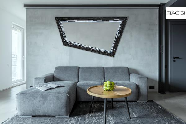 Rhombus black PIAGGI glass mosaic mirror image 9