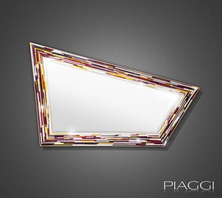 Rhombus multicolour PIAGGI glass mosaic mirror image 2