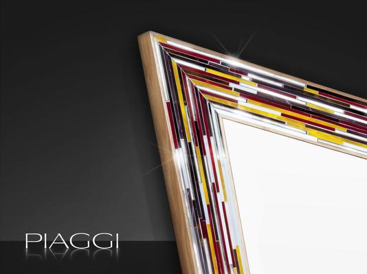 Rhombus multicolour PIAGGI glass mosaic mirror image 4