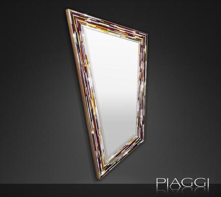 Rhombus multicolour PIAGGI glass mosaic mirror image 5