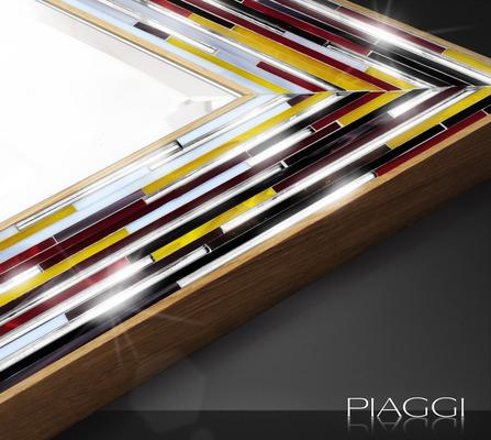 Rhombus multicolour PIAGGI glass mosaic mirror image 6