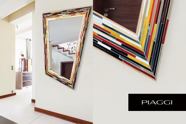 Rhombus multicolour PIAGGI glass mosaic mirror