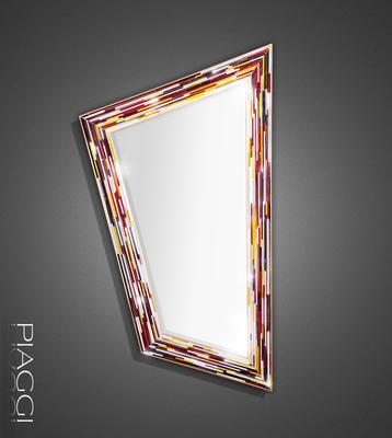 Rhombus multicolour PIAGGI glass mosaic mirror image 7