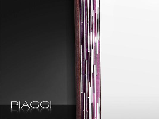 Rhombus pink PIAGGI glass mosaic mirror image 2
