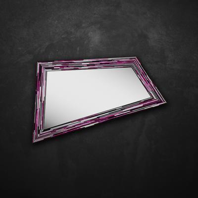 Rhombus pink PIAGGI glass mosaic mirror