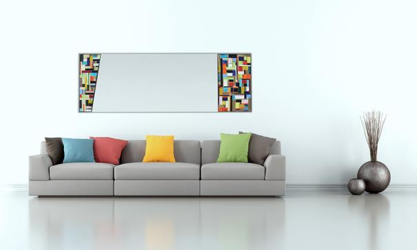 Disco PIAGGI glass mosaic mirror
