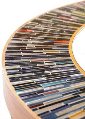 Stadium multicolour PIAGGI glass mosaic mirror image 6