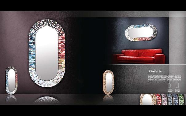 Stadium multicolour PIAGGI glass mosaic mirror image 11