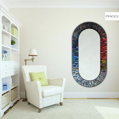 Stadium PIAGGI multicolour glass mosaic mirror image 15