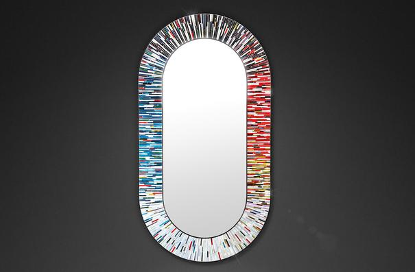 Stadium PIAGGI multicolour glass mosaic mirror