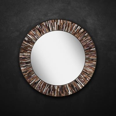 Roulette PIAGGI brown glass mosaic round mirror image 9