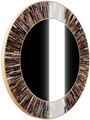 Roulette PIAGGI brown glass mosaic round mirror image 14