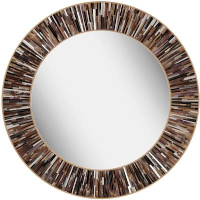 Roulette PIAGGI brown glass mosaic round mirror image 15