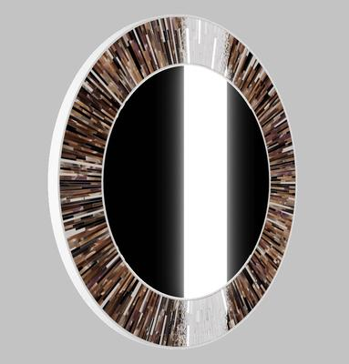 Roulette PIAGGI brown glass mosaic round mirror image 16