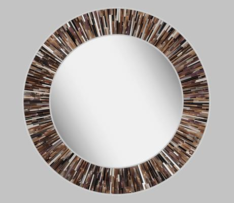 Roulette PIAGGI brown glass mosaic round mirror image 17