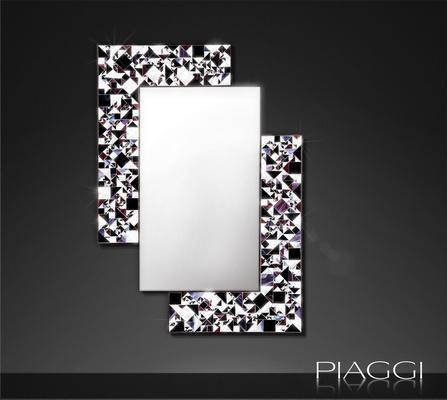 Kaleidoscope PIAGGI violet glass mosaic mirror