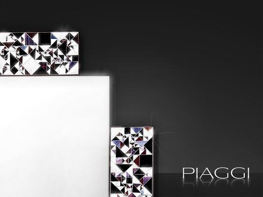 Kaleidoscope PIAGGI violet glass mosaic mirror image 3