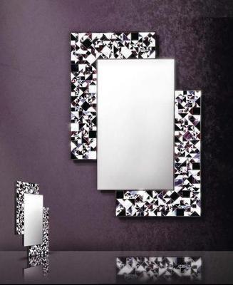 Kaleidoscope violet PIAGGI glass mosaic mirror image 4
