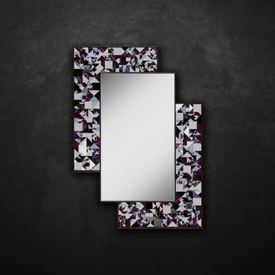Kaleidoscope PIAGGI violet glass mosaic mirror image 10