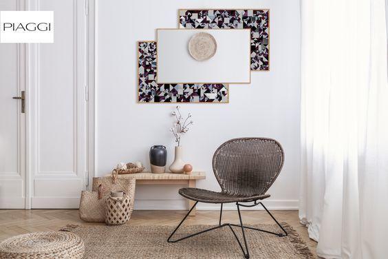 Kaleidoscope PIAGGI violet glass mosaic mirror image 11