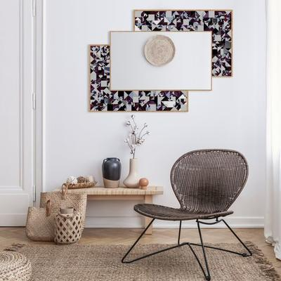 Kaleidoscope PIAGGI violet glass mosaic mirror image 16