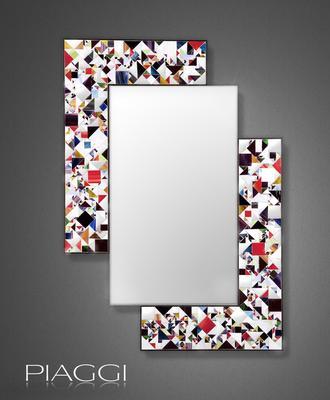 Kaleidoscope multicolour PIAGGI glass mosaic mirror image 2