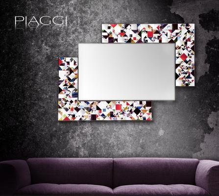 Kaleidoscope multicolour PIAGGI glass mosaic mirror image 2