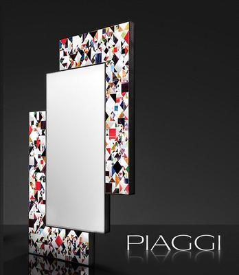 Kaleidoscope multicolour PIAGGI glass mosaic mirror image 3