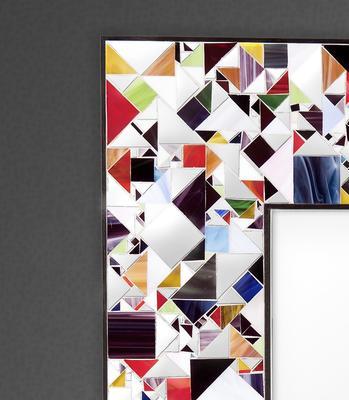 Kaleidoscope multicolour PIAGGI glass mosaic mirror image 6