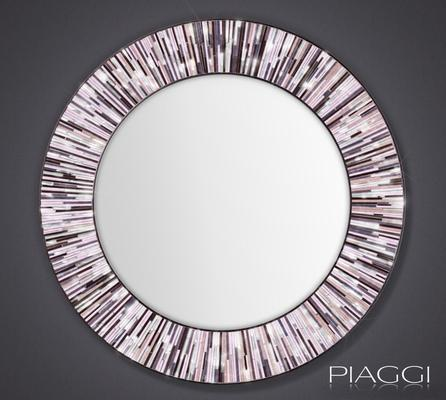 Roulette pink PIAGGI glass mosaic mirror