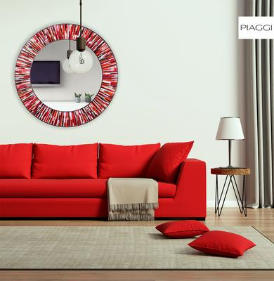 Roulette PIAGGI red glass mosaic round mirror image 6