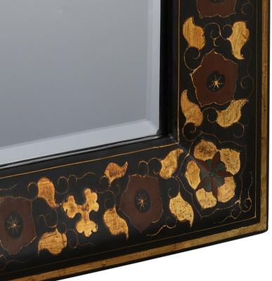 Shanxi Painted Mirror, Black Lacquer image 2