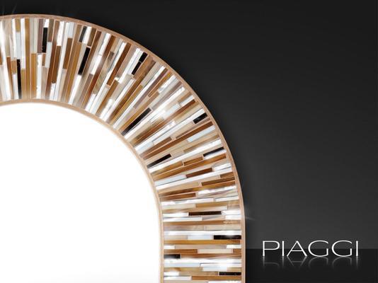 Stadium PIAGGI beige glass mosaic mirror image 3