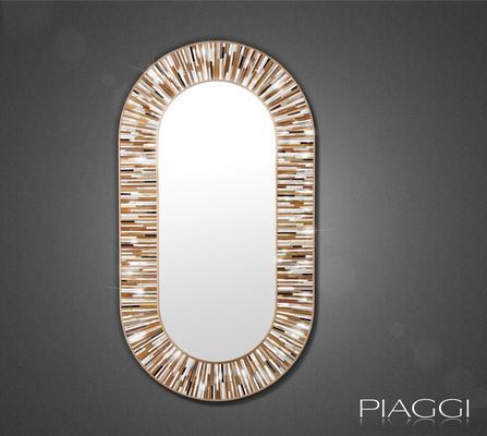 Stadium beige PIAGGI glass mosaic mirror image 4