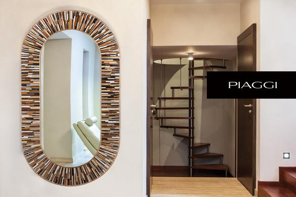 Stadium beige PIAGGI glass mosaic mirror