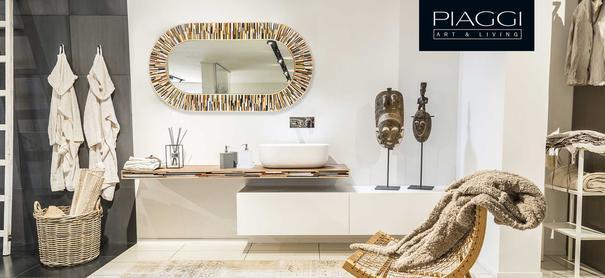 Stadium beige PIAGGI glass mosaic mirror image 6