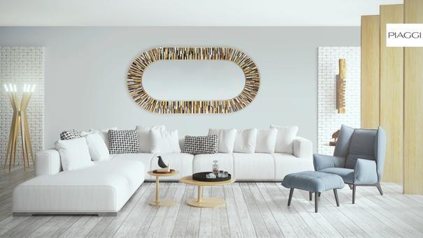 Stadium PIAGGI beige glass mosaic mirror image 10