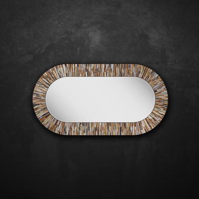 Stadium PIAGGI beige glass mosaic mirror image 12