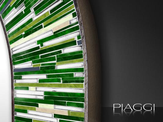 Stadium PIAGGI green glass mosaic mirror image 3